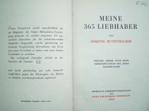Meine 365 Liebhaber. Der Zweite, bisher noch nicht veröffentlichte Teil der Erinnerungen von Josefine Mutzenbacher